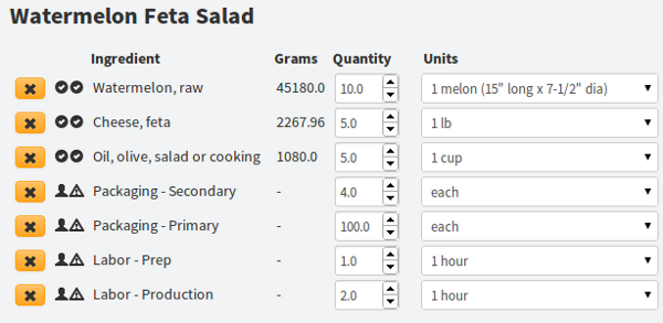 Recipe cost calculator bill of materials forumfinder Images